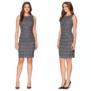 Calvin Klein Plaid Starburst Sheath Dress
